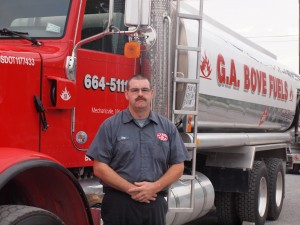 G.A. Bove Fuels fuel truck with driver