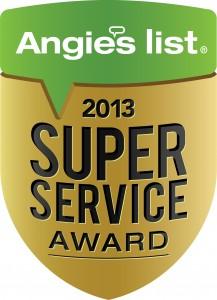 Angie's List 2013 Super Service Award logo